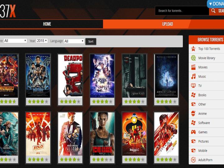 Top 1337x Torrents Working Proxy Mirror Sites