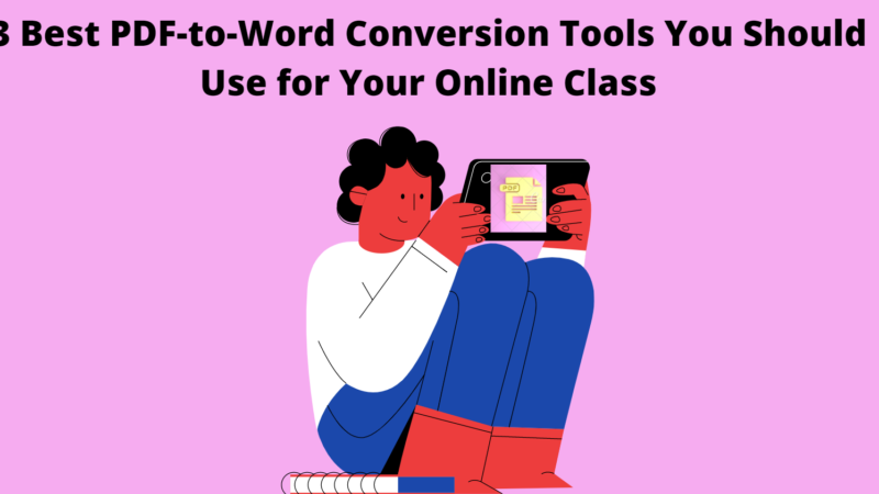 3 Best PDF-to-Word Conversion Tools You Should Use for Your Online Class